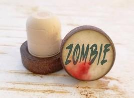 Zombie Wine Stopper, Halloween Bottle Stopper, Dark Wood Cork Bottle Sto... - $8.86