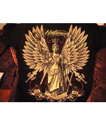 UNTAMED SATUE OF A LADY WITH WINGS AND SWORDS T-SHIRT - $11.65