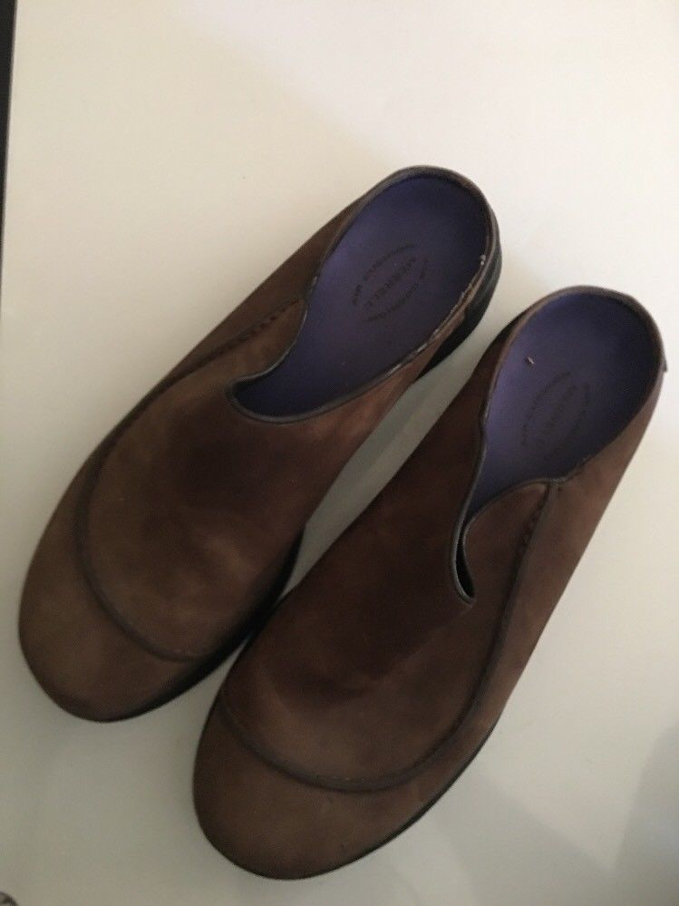 Mens MERRELL Brown Topo Wave Slide Suede Slip on Mocs Clogs Shoes sz 11 M image 5