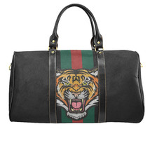Gucci Style Tiger Green Red Stripes Travel Bag Gym Bag Luxury Style Larg... - $129.97