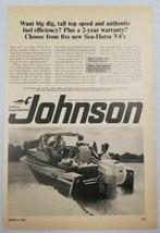 1966 Print Ad Johnson Sea-Horse V-4 Outboard Motors 100 HP Golden Meteor - $10.66