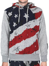 Lavish Society Men's Athletic US Flag Pullover Hoodie Jacket Pants Tracksuit Set image 2