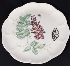 """Lenox Butterfly Meadow Salad Plate 9"""" Ladybug Eastern Tailed Blue Louise... - $12.82"""