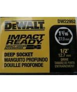 "DeWalt DW22952 1-1/16"" Impact Ready Deep Socket 1/2"" Drive 6 Point - $3.47"
