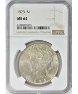 1923 Peace Silver Dollar NGC MS-64 - $100.00