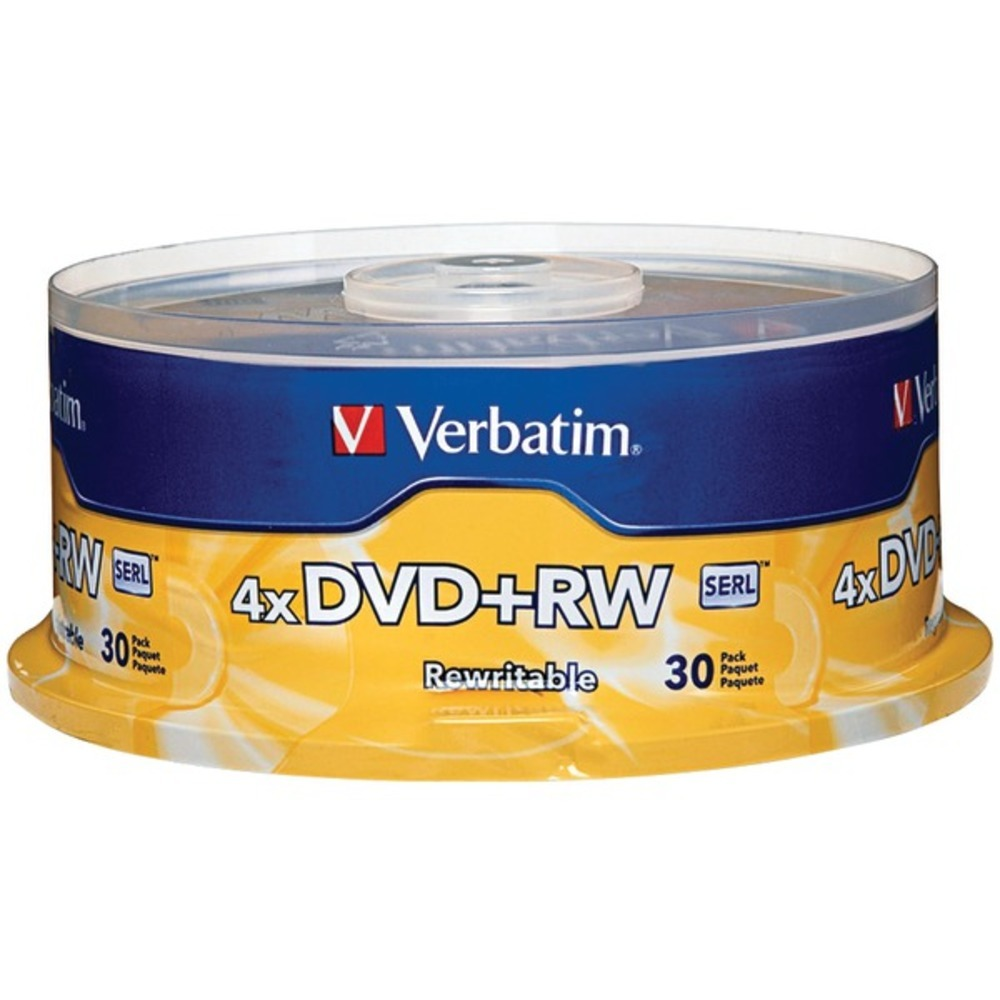 Primary image for Verbatim 94834 4X DVD+RWs, 30-Count Spindle