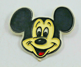 Disney Mickey Mouse Face Big Smile Plastic Collectible Lapel Pin Vintage  AS-IS - $13.98