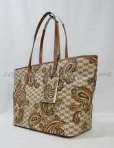 NWT Michael Kors Studio Paisley EMRY Large Top Zip Tote in Luggage Brown - $229.00
