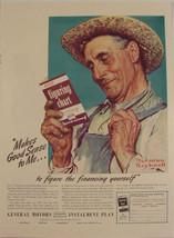 1940 General Motors NORMAN ROCKWELL artwork of FARMER GMAC Financing Ad ... - $9.99