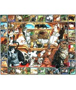 White Mountain Puzzles The World of Cats Jigsaw Puzzle 1000 Piece NEW Se... - $28.70