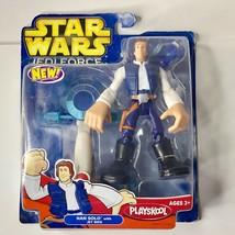 "Star Wars Playskool Jedi Force Han Solo with Jet Bike 6"" Figure - $18.81"