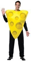 Cheese Wedge Adult Costume Yellow Tunic Food Halloween Party Unique Chea... - $42.99