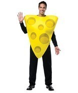 Cheese Wedge Adult Costume Yellow Tunic Food Halloween Party Unique Chea... - $871,52 MXN