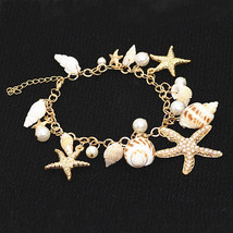 2018 New Korean Fashion Star Starfish Conch Shell Unlimited Charm Multi-element  - $8.13