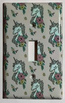 Unicorn wallpaper pink Switch Outlet Toggle & more Wall Cover Plate Home decor
