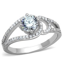 MJS Women's 0.75 Carat Stainless Steel Round Cut CZ Engagement Ring Size 9 - $16.99