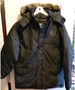 Men Jacket Faux Fur Hood Black Coat Phat Farm Classics  Medium Large XL,... - $75.50