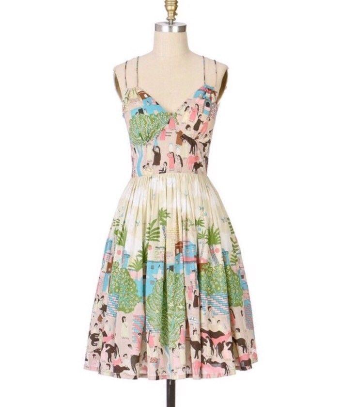 Anthropologie Bazaar Dress by Plenty by Tracy Reese Sz 4 - NWOT RARE!!!