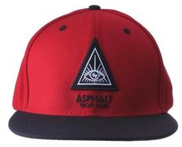 Asphalt yacht club men triangle eye snapback baseball hat cap nwt