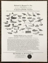 1974 Richard A Bourne Estate Auctioneers Hyannis Port MA Print Ad Decoys... - $10.95