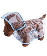 NACOCO Dog Transparent Raincoat with Hat Pet Summer Poncho Waterproof EV... - $12.86