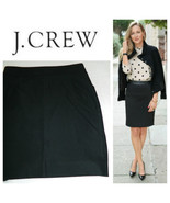 J. Crew Pencil Straight Skirt 12 Large Black Career Party Holiday    Q - $27.61