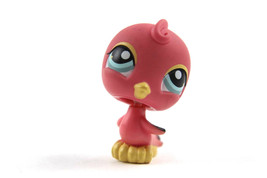 Littlest Pet Shop #131 Hot Pink Parakeet Canary with Blue Eyes  LPS - $6.43