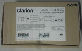 OEM ORIGINAL CLARION CCA-748-600 INTERFACE CABLE NEW IN BOX FOR iPOD iPHONE - $49.95