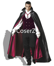 Dracula Vampire Costume Cosplay Costume with Cloak Gloves - $105.00