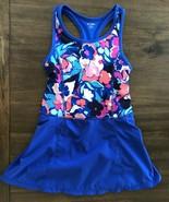 Gymboree Girl Dress Gymgo Active Floral dress M 7/8 Modest Swim Suit Leo... - $22.74