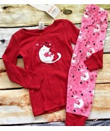 Gymboree Outlet Gymmies Kitty Cat Kitten Yarn Hearts Pajamas NWT Valenti... - $12.99
