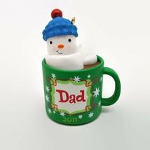 2011 New Hallmark Keepsake Dad Hot Chocolate Mug Christmas Ornament  - $7.76