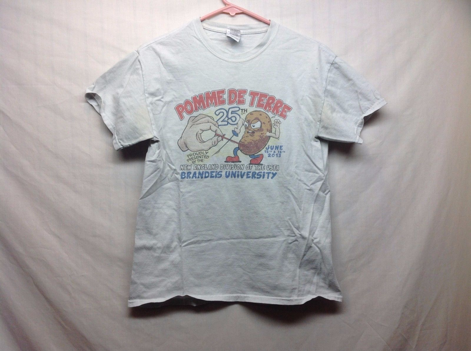 25th Pomme De Terre Novelty Fencing T Shirt Sz M