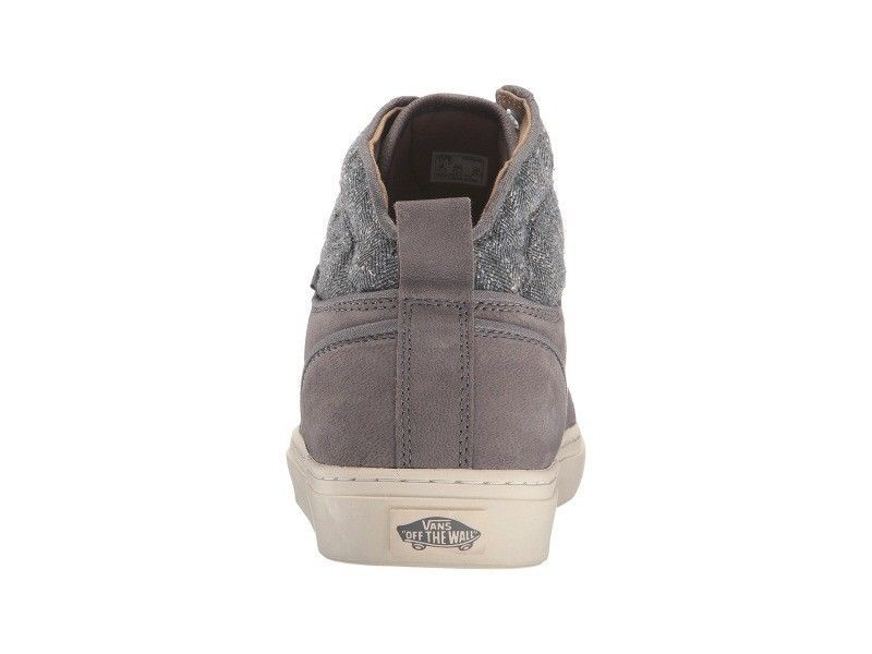 VANS Alomar (Tweed) Gray UltraCush Leather Skate Shoes MEN'S 8 image 4
