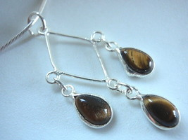 LAST ONE! New Tiger Eye 925 Silver Pendant India - $12.86