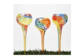 Marigold Set of 3 Glass Watering Globes - $26.99