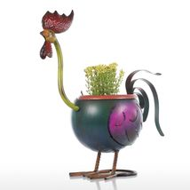 Rooster Flower Pot Garden Fower Pots Plastic Decoration Gift plant in po... - €27,07 EUR
