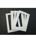 Picture Framing Mats 4x6 for 3.5x5 photo set of 6 White acid free - $5.99