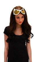 SteamPunk Cosplay Cat Eye Style Frame White/Gold Lens Goggles Glasses NE... - $15.43