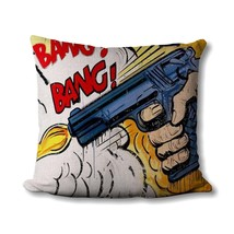 Pop Art Pillow - Comic Book - Gifts For Dad - Bang! - Pop Art Print - Su... - $14.99