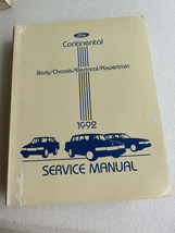 1992 Lincoln Continental Shop Service Repair Manual Supplement OEM Factory - $3.23