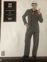 Mens Mob Boss Costume includes: jacket, pants, mock shirt front and tie. Size M - $24.14