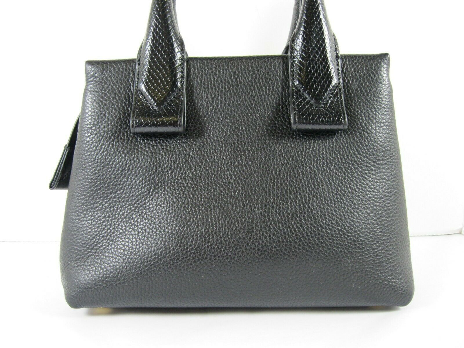 Michael Kors NEW $328 Black Leather Crossbody Messenger Hand Bag Pebbled Gold X