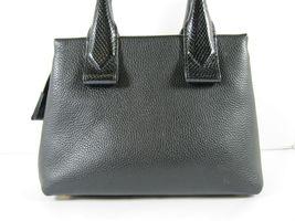 Michael Kors NEW $328 Black Leather Crossbody Messenger Hand Bag Pebbled Gold X image 3
