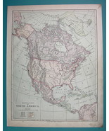 1875 MAP COLOR - North America Political - $6.71