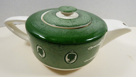 VTG by Royal China Colonial Homestead green teapot with green lid - $64.35