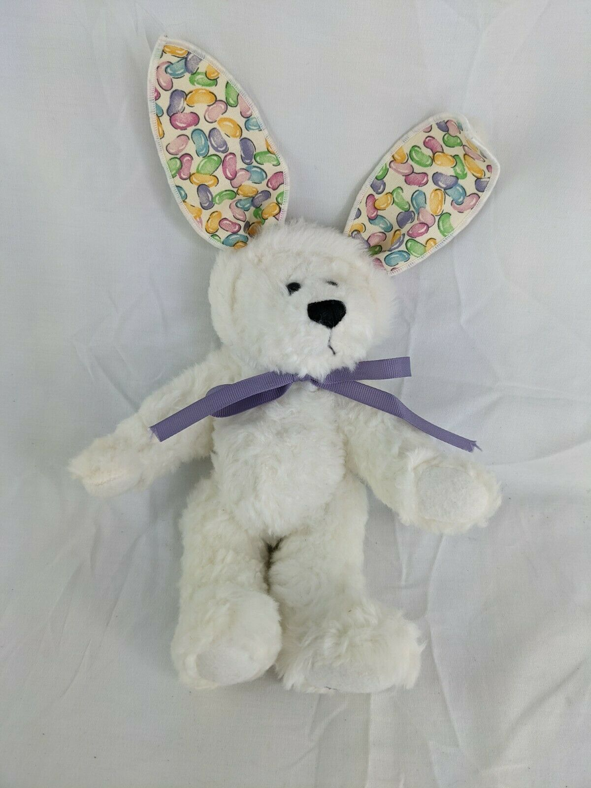 "Primary image for Ganz White Bear With Rabbit Ears 9"" Cottage Collectibles Jelly Beans 1998"