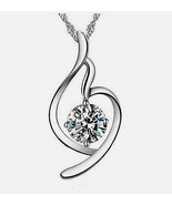 """Necklace Soft Angel look Silver Plated 18"""" Pendant 1"""" NEW Great Gift! - $10.95"""