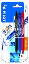 Pilot FriXion Clicker Erasable Gel Ink Roller Ball Pen - Black/ Blue/ Re... - ₹1,421.58 INR