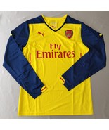 Arsenal Away Jersey 2014/15 Puma Promo Version Yellow %100 Original Long... - $39.00